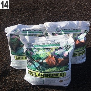 14. A portion of the premium screened compost is bagged for retail sale while the remainder is sold as bulk product
